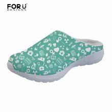 FORUDESIGNS sandalias de mujer de Enfermería de moda patrón de enfermera  bonita casa zapatillas de baño para mujeres verano sand. 943a698ea7f1