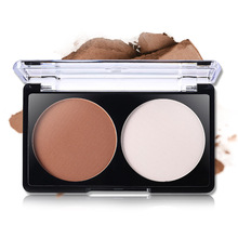 2 Colors Highlighter Powder Palette Face Shading Trimming Makeup Face Contour Grooming Facil Concealer Pressed Powders Y(China)