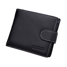 2017 New HOT genuine leather Men Wallets Brand High Quality Designer wallets with coin pocket purses gift for men card holder(China)