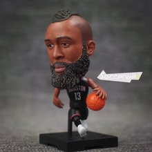 "Soccerwe+ Basketball Player Movable Dolls 13# HARDEN (Rockets + Black) 2.5"" Figurine(China)"