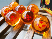 1Set 3.5CM Dragon Ball Crystal Balls Z New In Box 7 Stars  Set of 7 pcs Complete set Small Size