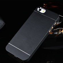 Motomo Aluminum Slim Metal Armor Brushed Back Cover Case for iPhone 7 7 Plus 6 6S 6G Plus 5 5S 5G 4 4S 4G Hybrid PC Case Coque
