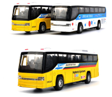 Free Shipping New diecast metal toy bus collection model  car with pull back function openable doors For kids children gift