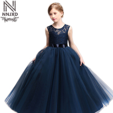 Baby Girl Wedding Dress Teenage Girl Party Dress Girls Summer Frocks Designs Kids Clothes Tulle Children Graduation Prom Gown