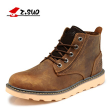 Z. Suo women's boots,quality of the leather fashion boots woman, leisure fashion winter merchant women work ankle boots.zs359