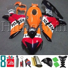 8Gifts+Tank cover+ orange REPSOL ABS cover 2008 2009 2010 2011 CBR1000RR motorcycle Fairing for Honda