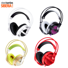 Full Color Steelseries Siberia 200 Headphones  with microphone Noise Isolating fone de ouvido Deep Bass Computer Gameing Headset