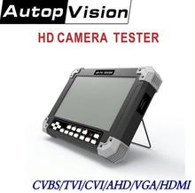 NEW 7Inch X42TAC-5M cctv video tester 6 in 1 support CVBS/TVI/CVI/AHD/VGA/HDMI cctv tester 12V/0.8A ouput(China)