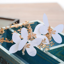 Retro Baroque Tiara Bridal Hair Accessories Handmade Butterfly Crowns Gold Tiaras Wedding Jewelry Women Hairband GL-061