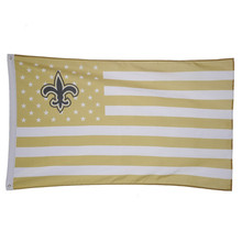 New Orleans Saints USA With Stars and Stripes Banner  Polyester Banner for Festival  Home Decoration