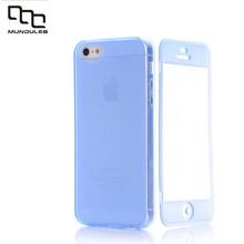 Hot sale Transparent Clear TPU Silicon Ultra thin Case Coque For apple iPhone 5G 5S SE Clam shell touch Screen Case Flip Cover
