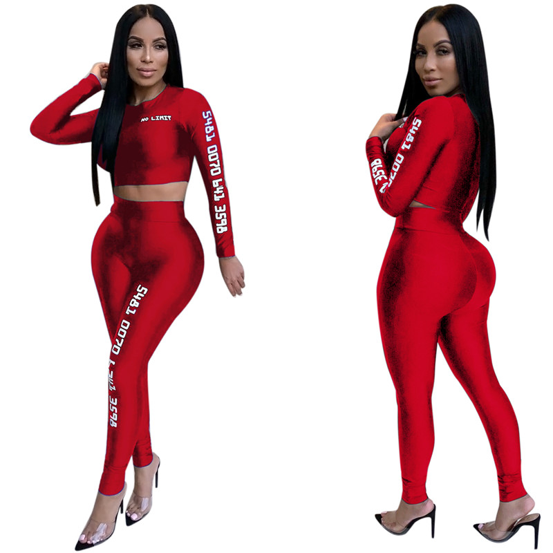 12 European and American sexy letter offset printing set sexy sequined jumpsuit fashion suit Bodysuit Female Evening Night Club Wear09