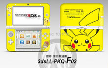 Pikachu Front&back vinyl DECAL Skin Sticker Case Cover  for Nintendo 3DSXL For 3DS XL LL for 3DSLL Friee Shipping