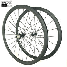 BIKEDOC Carbon Wheels Tubular And Clincher 700c Bicycle Wheels Light Weight Road Racing Bike Wheels 38mm