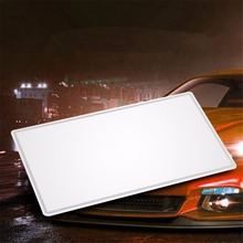Car Styling Makeup Mirror Sun Visor Sun-shading Car Cosmetic Mirror Large Stainless Steel Car Interior Mirror 15X8CM