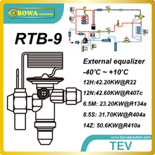 RTB-9  50.6kw(R410a) bi-flow TEV is installed  in heat pump air conditioner reduce TEV and check valve to reduce leakage risks