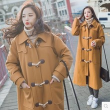 2017 Winter Fashion Women Coat High-end Cashmere Woolen cloth Coat Elegant Women Slim Big yards Leisure long Coat
