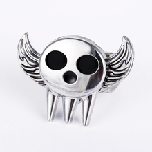 J Store Anime Soul Eater Death The Kid Rings Rotatable Angel Wings Zinc Alloy Ring for Women Men Jewelry Fashion Accesories(China)