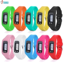 OTOKY Digital LCD Pedometer Run Step Walking Distance Calorie Counter Watch Bracelet Oct 11(China)