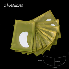 50pairs/pack 5.5x2.3cm New Paper Patches Eyelash Under Eye Pads Lash Eyelash Extension Paper Patches Eye Tips Sticker Wraps