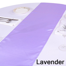 "Free Shipping 10PC/Pack 12""X108"" Table Runners Modern Satin Table Runner of Weddings Satin Silk Flag in Event & Party Supplies"