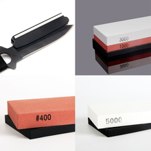 Top Sale 400 1000&3000 5000# combination Dual Whetstone Double Sided Grit Knife Sharpener Sharpening Wet Stone(China)