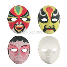 12PCS/LOT.Blank paper pulp full face mask,Handpainted your own facial makeup,Festive & Party Supplies,Party Mask,18x21.5cm