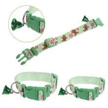 Christmas Pet Dog Cat Collar Adjustable Xmas Design Collars Small Bell Set S L