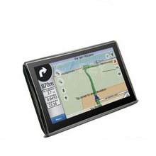 50% shipping fee 5 pieces THD 7 inch GPS navigation with SIRF Atlas VI 800MHZ + Windows CE 6.0+ Bluetooth+ AV-IN+256MB DDR3
