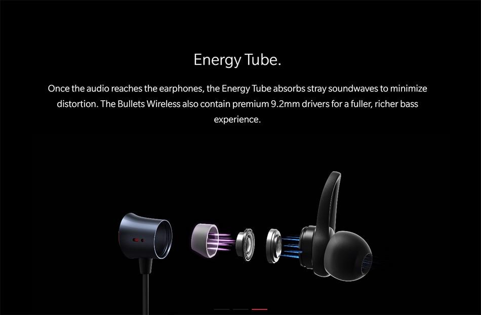 Original Oneplus Bullets Wireless Earphones aptX Neckband For Oneplus 6 Music Freedom Charging Stress Bluetooth Earbuds Earphone (5)