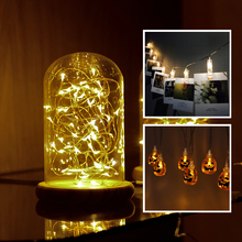 1.5m 2m 5m 10m Garland LED String lights Clip For Holiday Pumpkin Halloween Fairy Christmas Party Decoration Warm White Only(China)