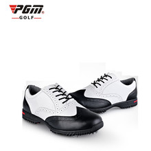Zapatos De Golf Pgm Authentic Golf Shoes Men's Leather Carved Bullock Activity Spikes Aristocratic British Style First Layer Of