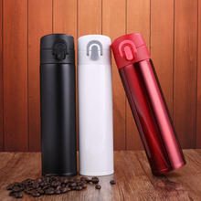 Hot Thermos Stainless Steel Vacuum Flasks Thermoses Cute Thermo Mug Coffee Cup School Travel Thermocup Insulated water bottle(China)