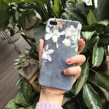 SZYHOME Phone Cases for IPhone 6 6s 7 Plus Retro Art Flower Fashion Girl Frosted Luxury Hard for IPhone 7 Cover Case Capa Coque(China)