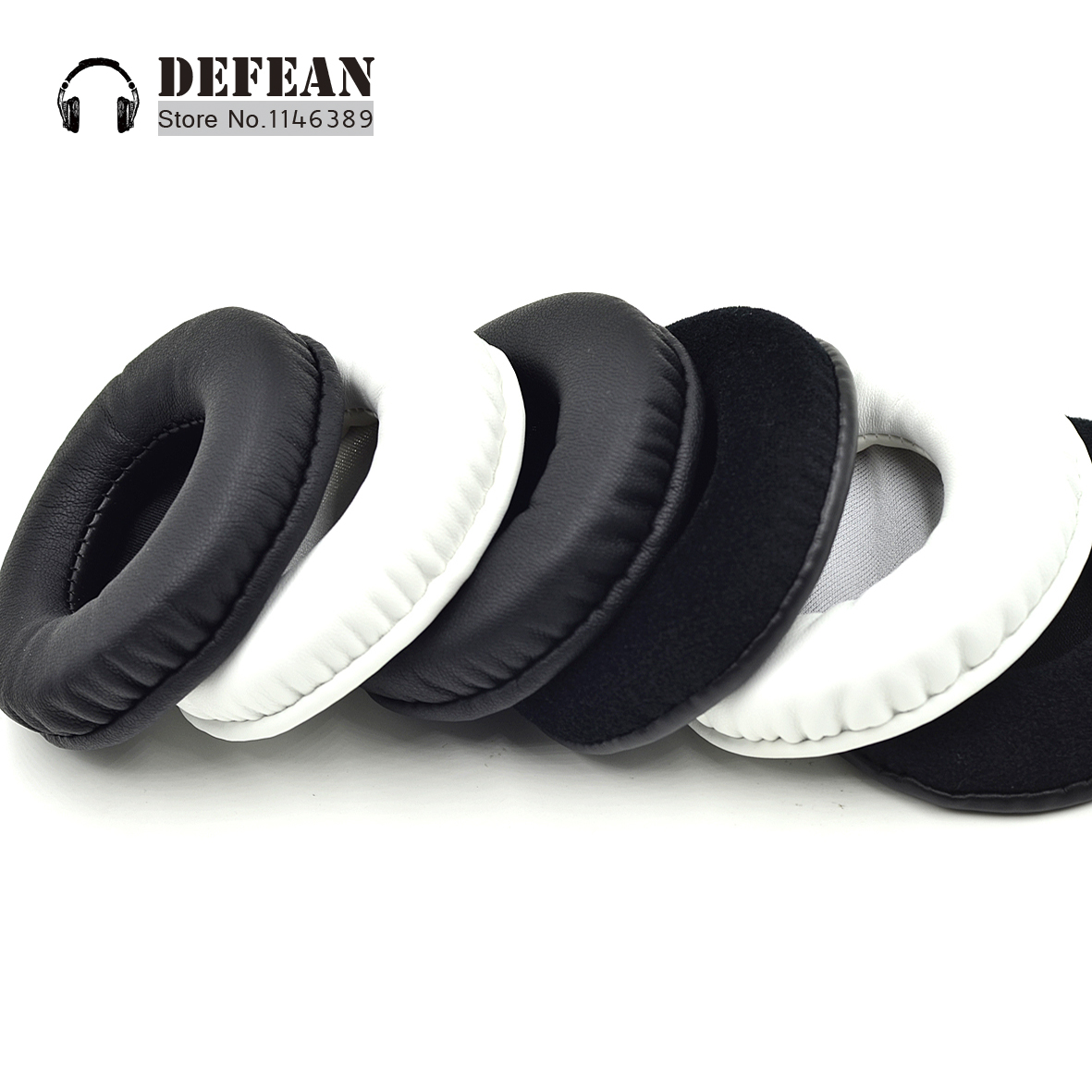 Foam Replacement Cushioned Leather Ear Pads For JVC HA W100RF Headphone Headset(China)