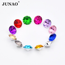 JUNAO 1.5mm Small Size Crystal Pointback Round Rhinestone Glue On Strass Crystals Stones Acrylic Gems For DIY Nail Crafts(China)