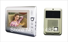 DWE CC RF 7 inch video door phone for villa color video intercom system with handfree monitor video door bell(China)