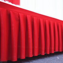 10 ft length table skirt white table cloth skirting for wedding christmas party baby shower birthday cake table decoration 2017(China)