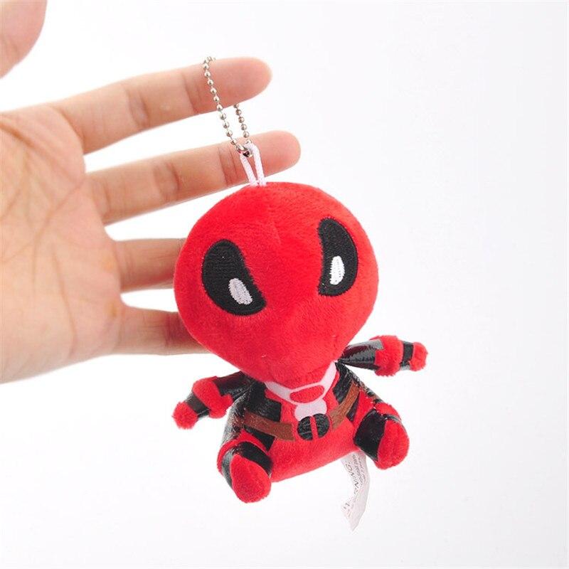 Movie Super Heroes X-Men Deadpool Plush Toys Key Bag Pendants Dolls Peluche Keychain 10pcslot 11cm  (3)