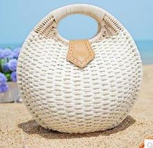 Handbags 2015 Women Bags Pure Natural Material Corn skin Hand Woven Straw Bags Leisure Beach Bag Flower lady Shoulder Shell Bag