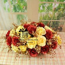 Free shipping 28 piece Nereus table flowers fashion artificial flower set dining table decoration flower with vase