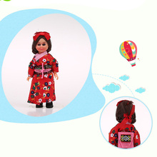 5.5inch Kids Toys Baby Mini Ethnic Dolls Japanese Woman Ethnic Doll Gift for Girl/Boy Child International Fashion Doll 1002-009(China)