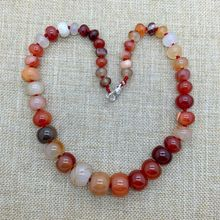 Fashion Woman Choker Necklace Knotted Stone Bead Necklace Carnelian Red Stone Abacus Wheel Bead; Silver Jewelry Lead Free!