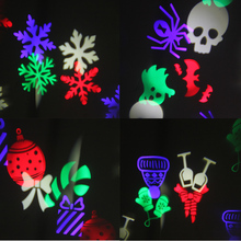 Top IP65 Waterproof Holiday Christmas Lights RGB Static Twinkle Outdoor Christmas Laser Lights Projector snowflake for Garden(China)