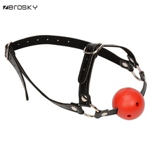 Zerosky Silicone Open Mouth Ball Gag Sex Products Oral Fixation Gag Sex Toys For Couples Adult Games
