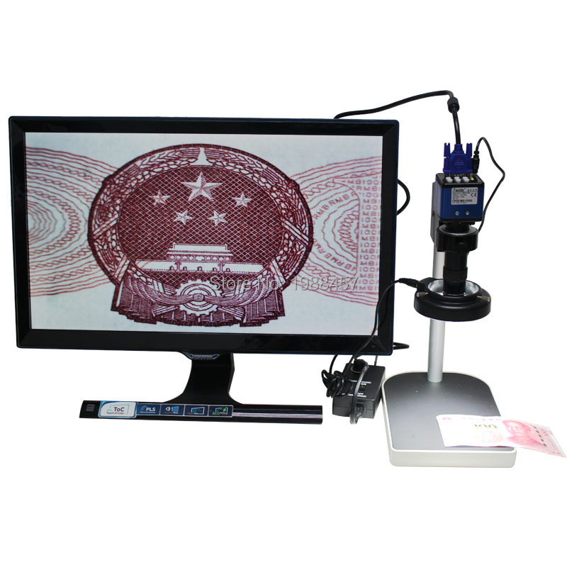 2.0 MP HD Digital Industrial Microscope Camera for Industry Lab VGA Video Output+130X C-mount Lens + 56 LED ring Light + Stand<br><br>Aliexpress