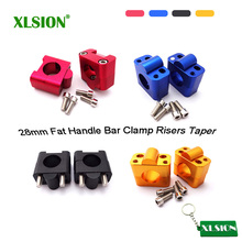 Buy XLSION CNC Aluminum 28mm Fat Handle Bar Clamp Risers Pit Dirt Bike Motocross ATV Quad for $17.94 in AliExpress store