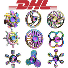 Buy Mixed 100Pcs/Lot Adult Anti Stress Relief Toy Hand Fidget Finger Spinner Dragon Rainbow Colorful Aluminium Brass Metal Box for $378.50 in AliExpress store
