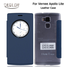 OcolorFor Vernee Apollo Lite Leather Case Cover Shell With Window-View Smartphone Flip Case For Vernee Apollo Lite Cellpone Case(China)