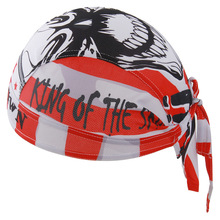 Cycling Cap Men Red Color Skull Pattern Quick Dry Anti-sweat Bicycle Bandana Ciclismo Bike Riding Pirate Hat Headscarf(China)